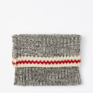 Roots-Kids Accessories-Kids Roots Cabin Snood-Grey Oat Mix-A