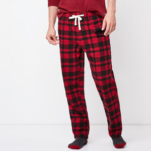 Roots-Men Sleepwear-Mens Lounge Pant-Lodge Red-A