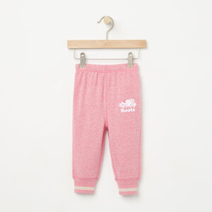 Roots-Kids Bottoms-Baby Buddy Slim Sweatpant-Pink Flambé Pepper-A