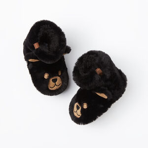 Roots-Kids Accessories-Toddler Bear Cub Slippers-Black-A
