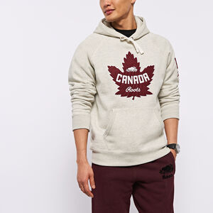 Roots-Men Canada Collection By Roots™-Heritage Kanga Hoody-White Grey Mix-A