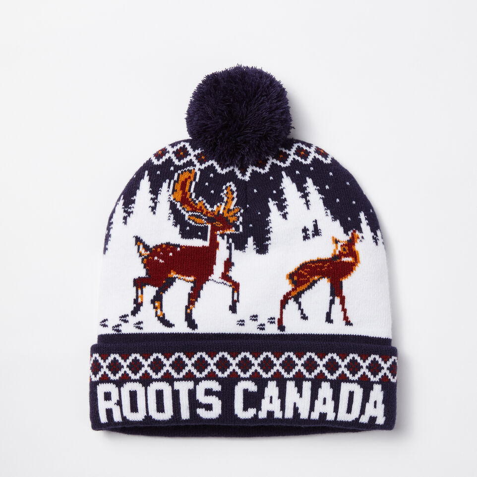 Roots-undefined-Winter Deer Pom Pom Toque-undefined-A