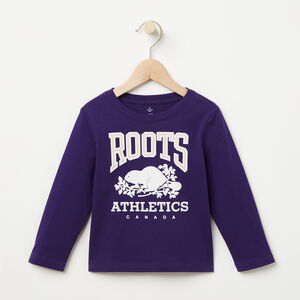 Roots-Kids T-shirts-Toddler RBA T-shirt-Dark Orchid Purple-A