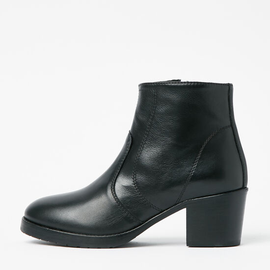 Roots-Shoes Boots-Italian Zip Bootie-Black-A