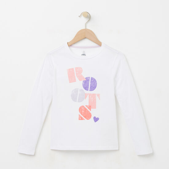 Girls Roots Stamp T-shirt