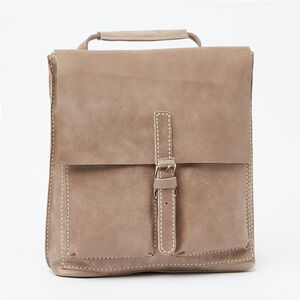 Roots-Leather Backpacks-Small Raiders Pack Tribe-Fawn-A