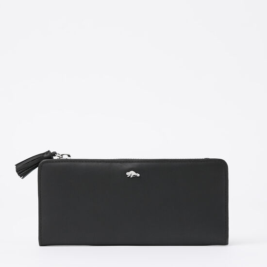 Roots-Leather Wallets-Slim Wallet Box-Black-A