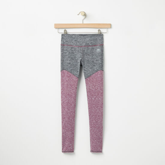 Roots-Kids Bottoms-Girls Roots Active Legging-Amaranth Mix-A