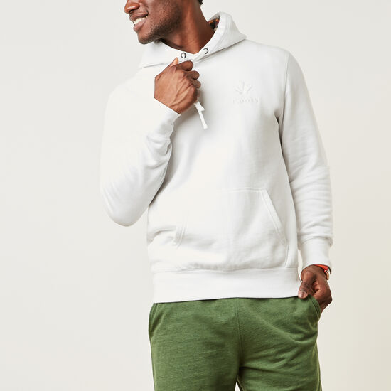 Roots-Men New Arrivals-Confederation Kanga Hoody-White-A