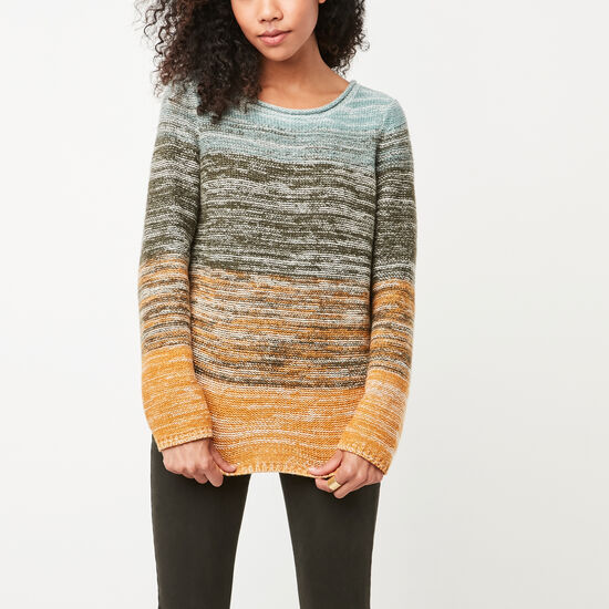 Roots-Women Sweaters & Cardigans-Terrosa Space Dye Sweater-Arctic Sky-A