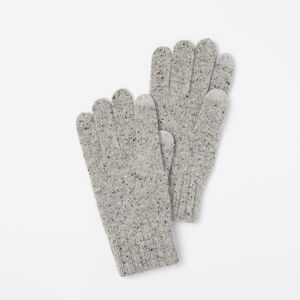 Roots-Gifts Bundle Up Accessories-Mens Donegal Texting Glove-Grey Mix-A