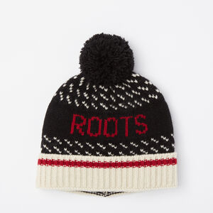 Roots-Women The Roots Cabin Collection™-Roots Cabin 3-point Toque-Black-A