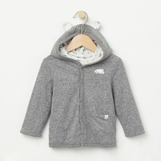 Roots-Kids Tops-Baby's First Roots Cardigan-Salt & Pepper-A