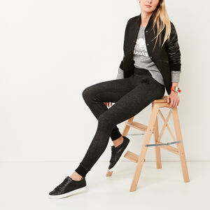 Roots-Sale Women's-Cozy Fleece Skinny Sweatpant-Black Pepper-A