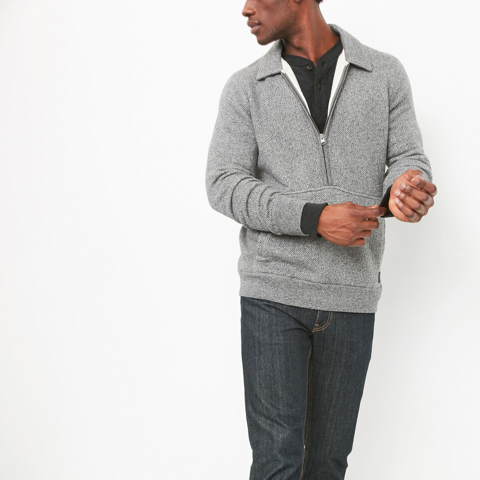 Roots-undefined-Mowat Herringbone 1/4 Zip Polo-undefined-A