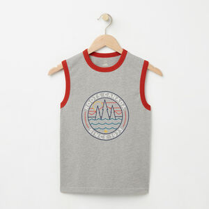 Roots-Sale Apparel-Boys Greenwich Sleeveless Top-Grey Mix-A
