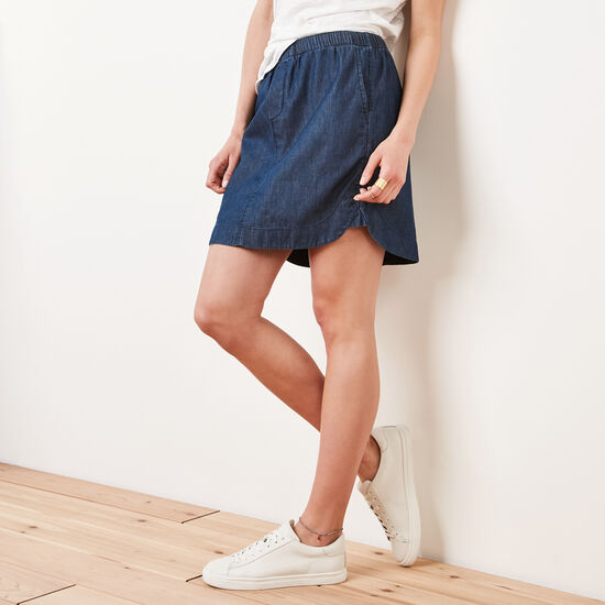 Roots-Women Shorts & Skirts-Lakelet Skirt-Chambray Blue-A