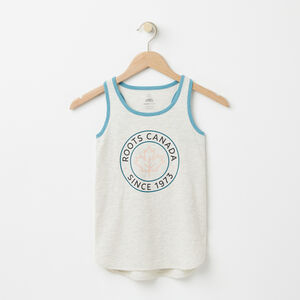 Roots-Sale Girls-Girls Lucy Tank-White Grey Mix-A