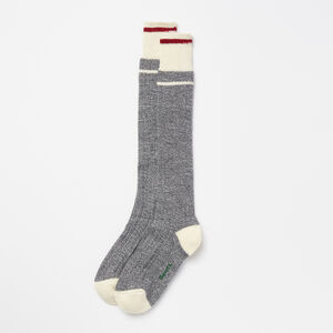Roots-Women Socks-Womens Cottage Knee Sock-Grey Mix-A