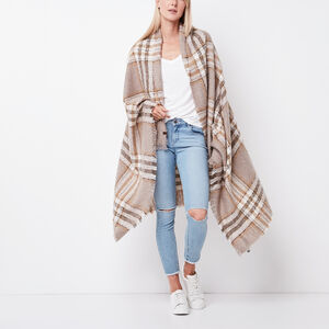 Roots-Women Accessories-Emelia Blanket Scarf-Fawn Taupe-A