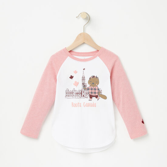 Roots-Kids New Arrivals-Toddler Rideau Hi-Lo Top-Bridal Rose Mix-A