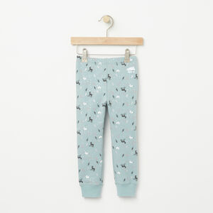 Roots-Kids Bottoms-Toddler Woodland Critters Cozy Legging-Hushed Blue-A