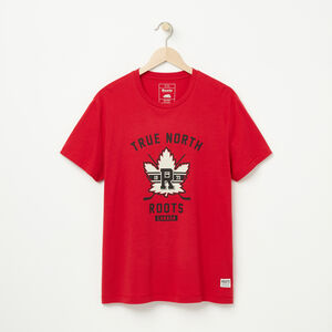 Roots-Men Graphic T-shirts-Roots Sport T-shirt-Lodge Red-A