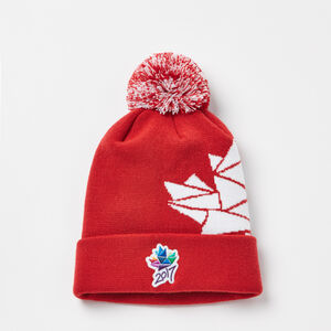 Roots-Men Ottawa 2017 Collection-Ottawa 2017 Pom Pom Toque-Sage Red-A