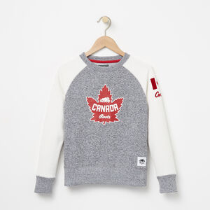 Roots-Gifts Girls-Girls Heritage Canada Crew-Salt & Pepper-A