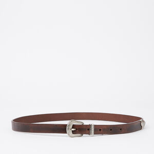 Roots-Women Belts-Small Western Buckle Belt-Brown-A
