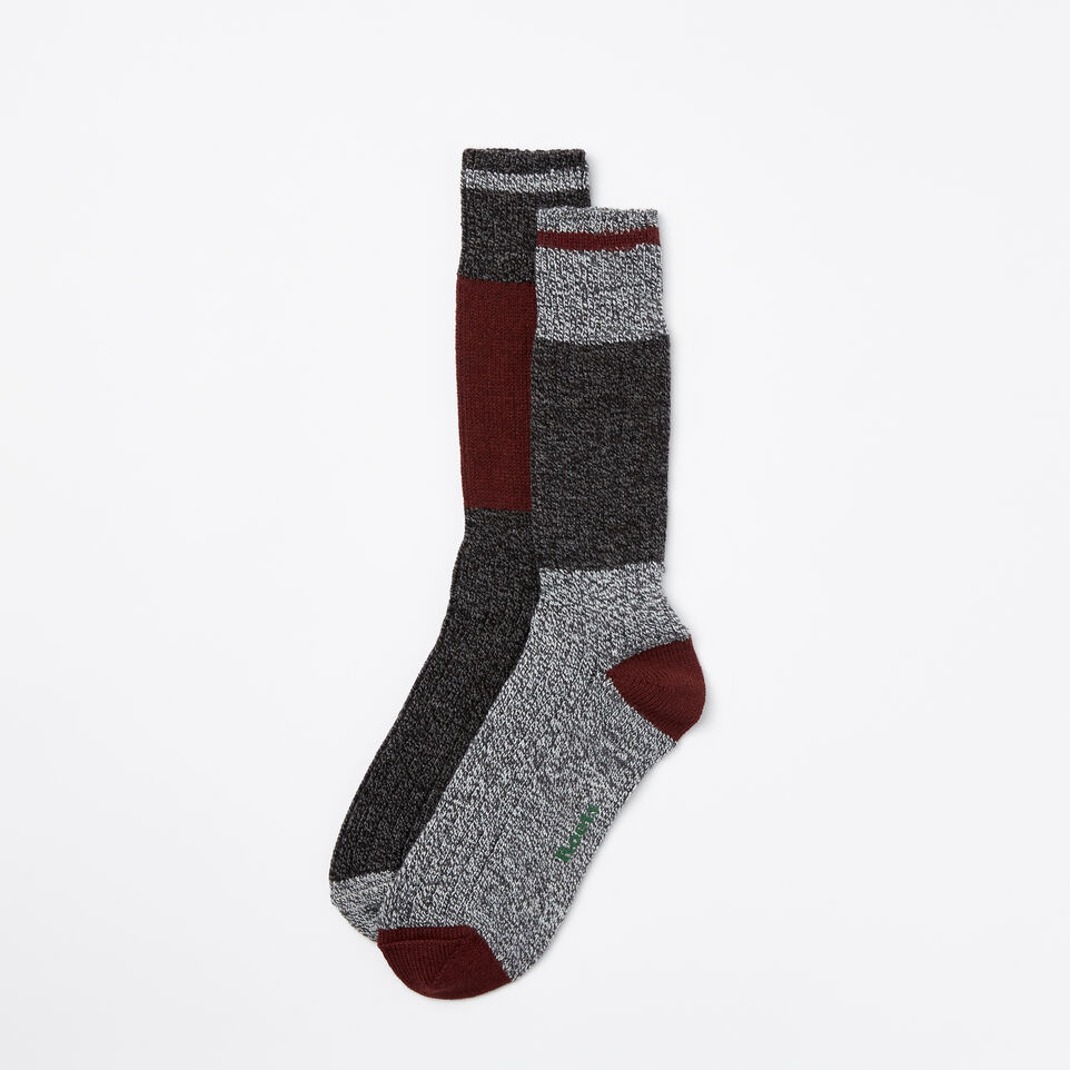 Roots-undefined-Mens Log Cabin Sock 2 Pack-undefined-B