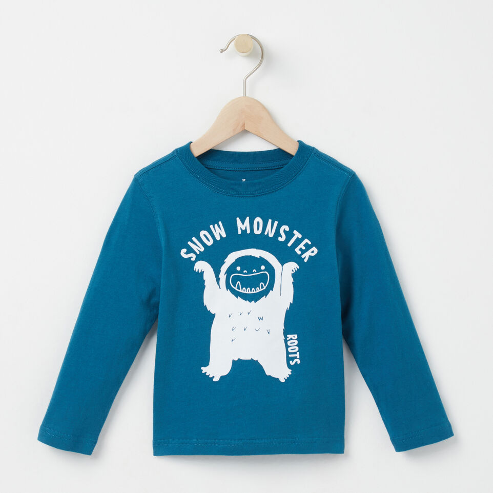 Roots-undefined-Toddler Snow Monster T-shirt-undefined-A