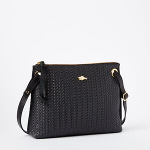 Roots-Women Bags-Edie Bag Box/Woven-Black-A