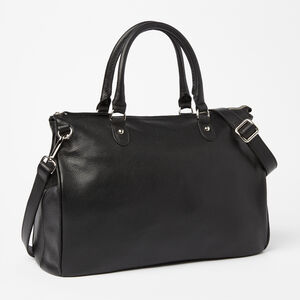 Roots-Leather Shoulder Bags-Grace Bag Prince-Black-A