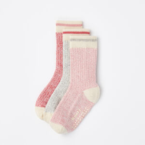 Roots-Kids Baby Girl-Baby & Toddler Cabin Sock 3 Pack-Pink Mix-A