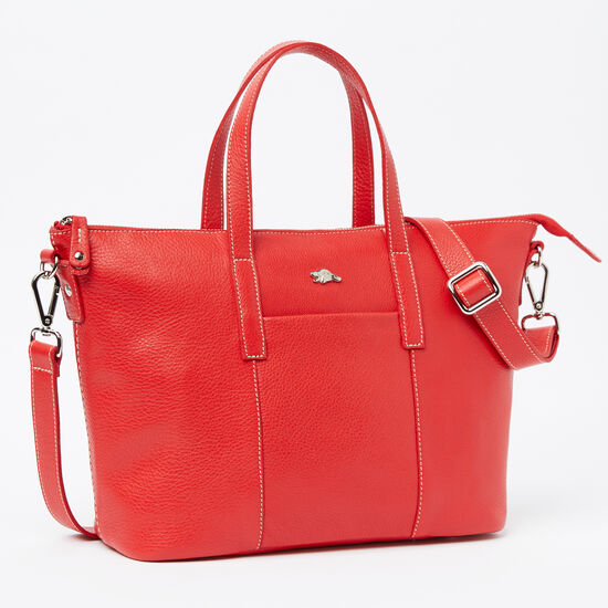 Roots-Women Totes-Zoe Bag Prince-Canada 150 Red-A