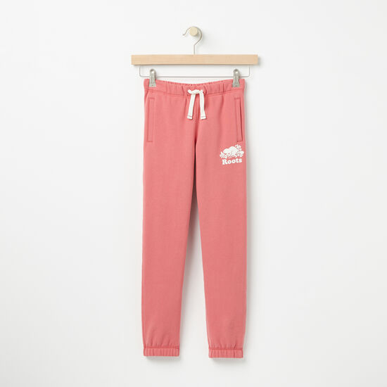 Roots-Kids Bottoms-Girls Original Sweatpant-Baroque Rose-A
