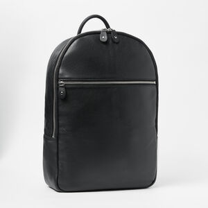 Roots-Leather Backpacks-Go Pack Prince Box 15in-Black-A