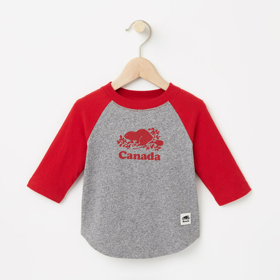 Roots-undefined-Baby Canada Baseball T-shirt-undefined-A