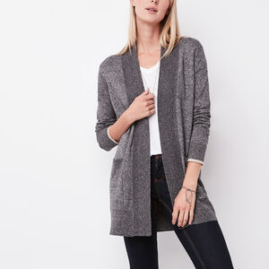 Roots-Women Tops-Chalet Cardigan-Grey Oat Mix-A