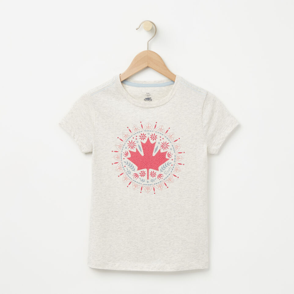 Roots-undefined-Girls Maple Mandala T-shirt-undefined-A