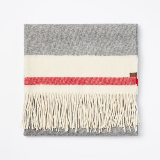 Roots-Women Scarves & Wraps-Roots Cabin Blanket Scarf-Salt & Pepper-A
