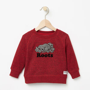 Roots-Kids Tops-Baby Chenille Cooper Sweatshirt-Lodge Red Pepper-A
