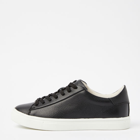 Roots-Shoes Shoes-Womens Lace Up Sneaker Leather-Black-A