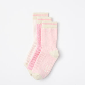 Roots-Kids Baby Boy-Baby & Toddler Cabin Sock 3 Pack-Sea Pink-A