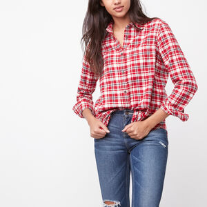 Roots-Women Shirts-Ava Classic Shirt-Lodge Red-A