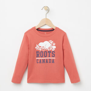 Roots-Kids T-shirts-Toddler Raina T-shirt-Faded Rose-A