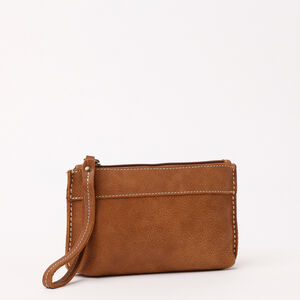 Roots-Women Leather Accessories-Easy Wristlet Pouch Tribe-Africa-A
