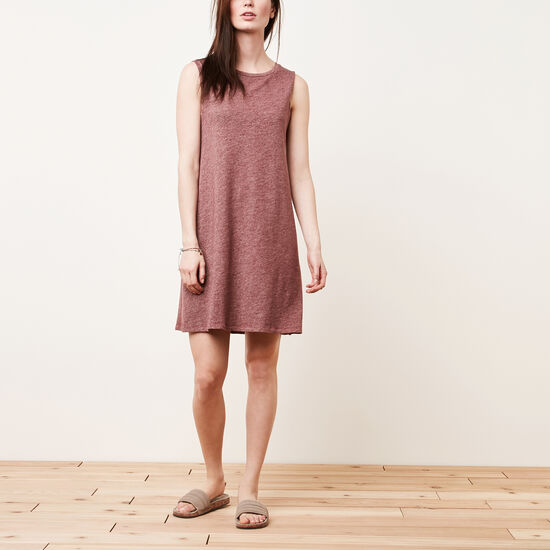 Roots-Soldes Femmes-Robe Heather-Mélange Cramoisi-A