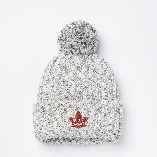 Kids Winter Fox Pom Pom Toque